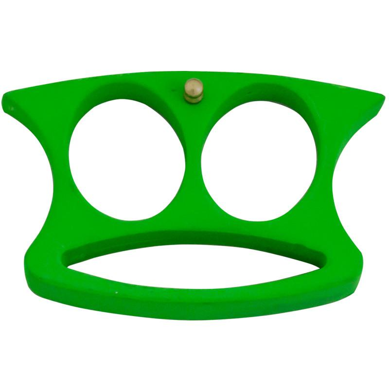 2 Finger Brass Knuckles, Toxic Green