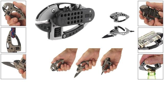 Guppie Stainless Handle Bead Blast Pocket Clip Cr9070
