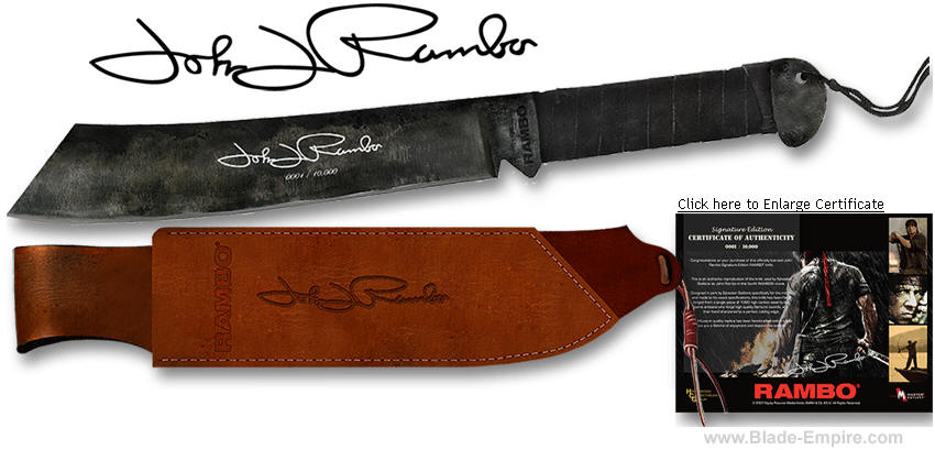 Rambo 4 Knife, Signature