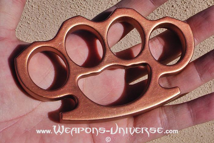 Aluminum Brass Knuckles, Copper, Large