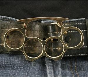 Brass Knuckles Belt Buckles