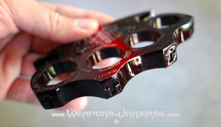 Constantine Brass Knuckles, Red / Black Gradient