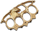 High Roller Eagle Brass Knuckles, Gold