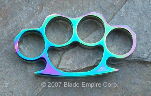 Standard Brass Knuckles, Medium, Rainbow