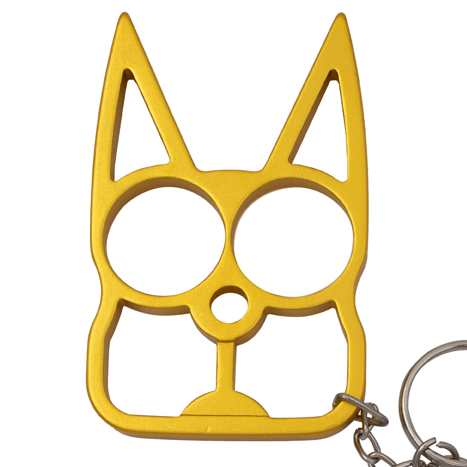 Cat Self Defense Solid Steel Public Safety Keychain Knuckles