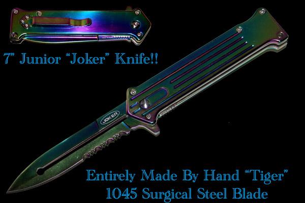 Joker Otf Style Spring Assist Rainbow Serrated