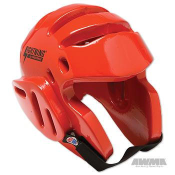 ProForce Lightning Sparring Head Guard Headgear - Red