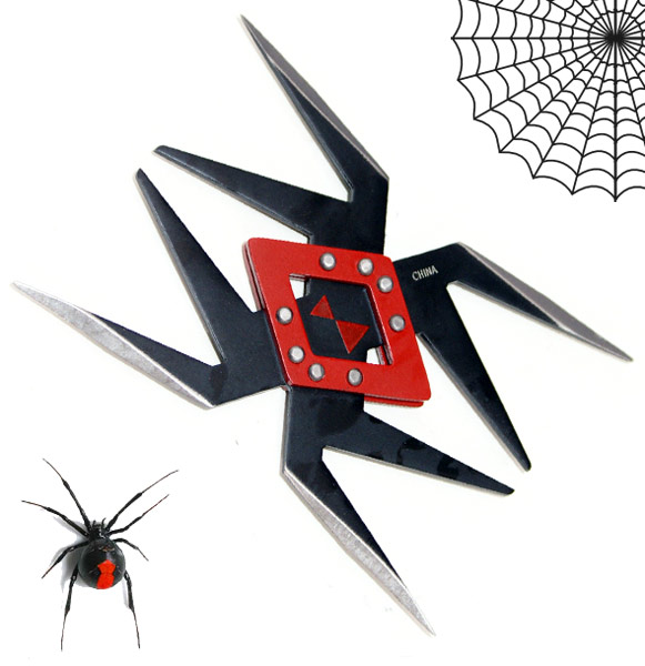 Black Widow Throwing Star, Black