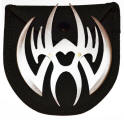 Spider Throwing Star, Silver, 4 inches, Z-1023-SL