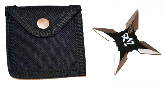 """black throwing star with Chinese symbol """"Tolerance"""". This throwing ..."""