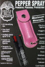 1/2oz pepper spray-pink leather pouch keychain