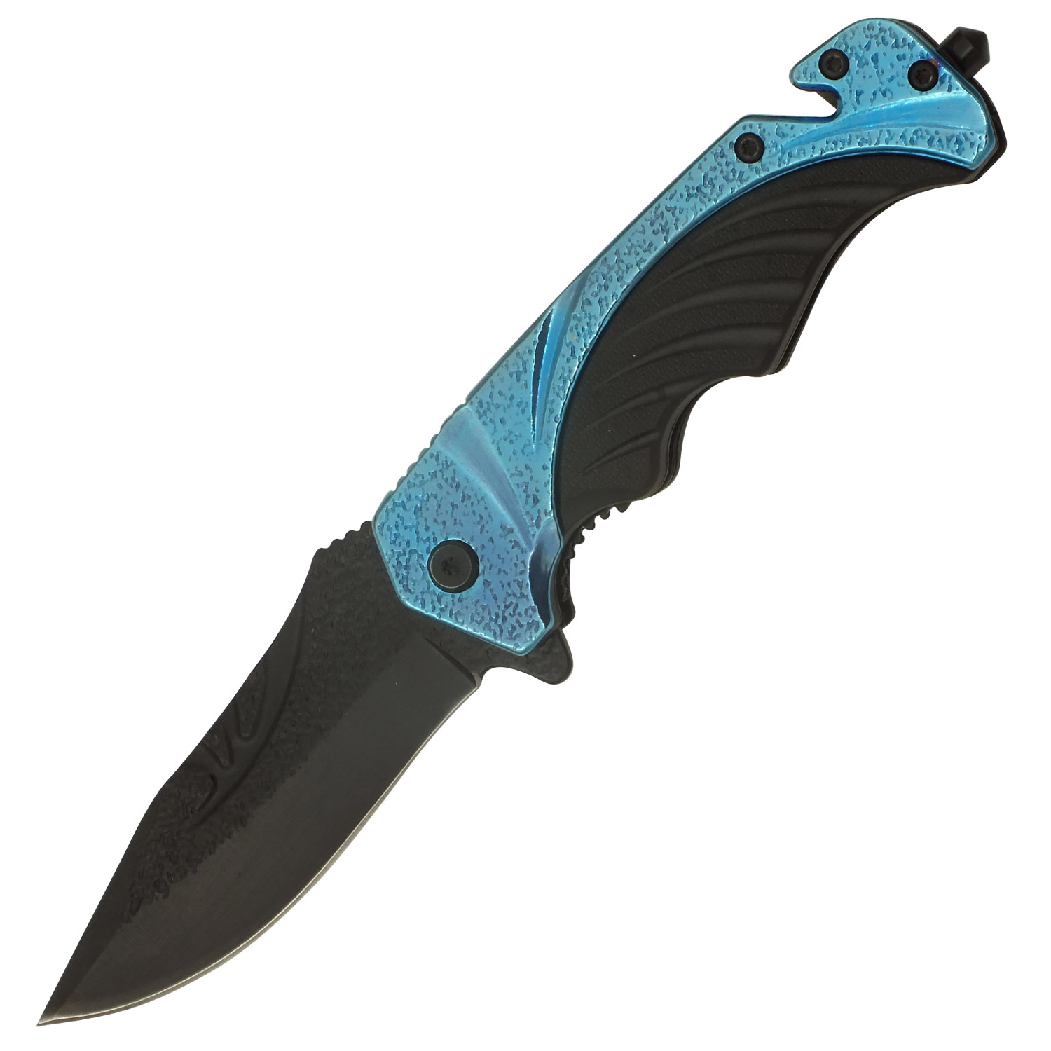 Sky Blue Streak Spring Assisted Folding Pocket Knife