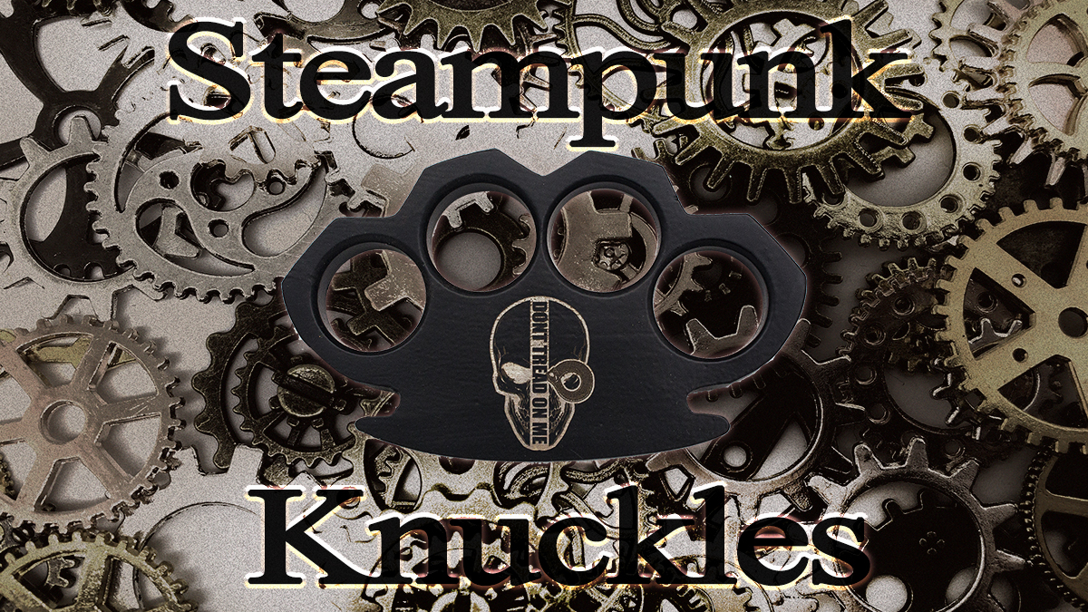 Steam Punk Brass Knuckles Paperweight