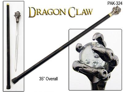 Dragon Claw Cane Sword