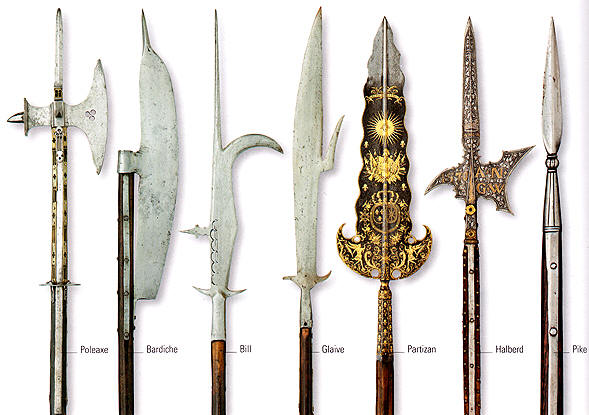 versatile on the battlefield these weapons became the mainstay of the    Guisarme Weapon
