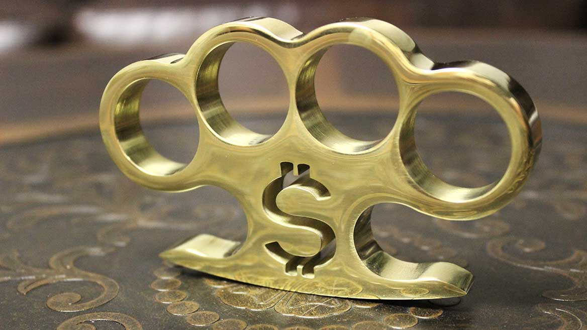 American Made Pay Up Brass Knuckles
