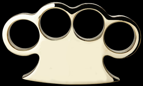 American Made Solid Brass Knuckles, Style 1
