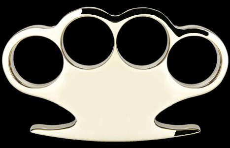American Made Solid Brass Knuckles, Style 4