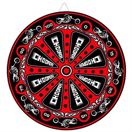 Biker Choppers Red Throwing Knife Target Dart Board