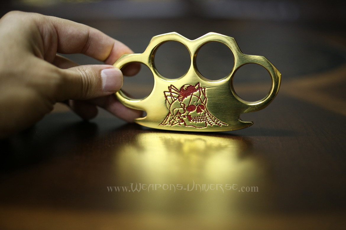 Black Widow Real Brass Knuckles, Red