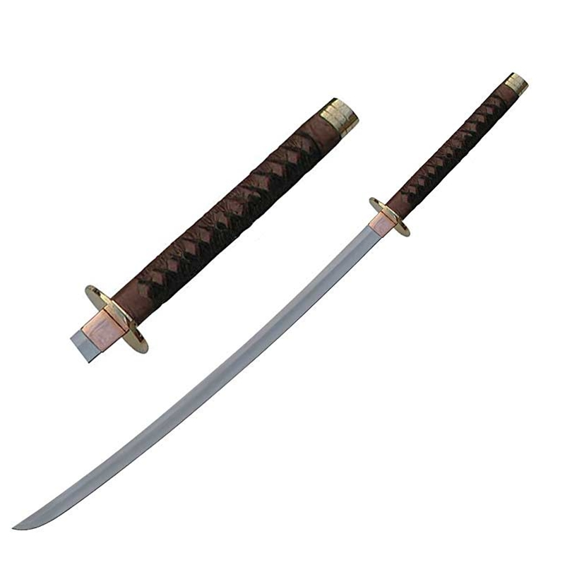 Braided Leather Samurai Katana Sword