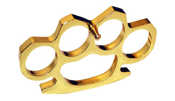 Brass Knuckles, Gold, Medium