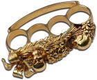 Skull Fantasy Brass Knuckles, Gold