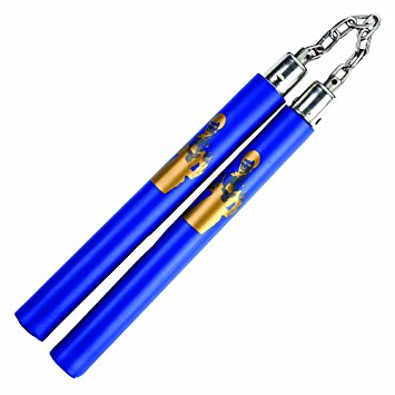 Bruce Lee Foam Nunchucks, Blue, Chain