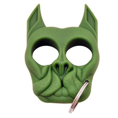 Brutus Self-Defense Keychain ABS Knuckles, Green