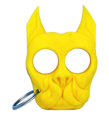 Brutus Self-Defense Keychain ABS Knuckles, Yellow