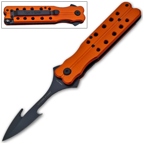 Butterfly Style Folding Knife - Spear Point, OR