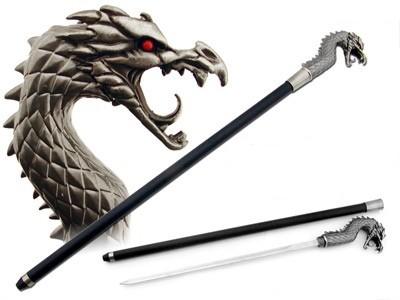Asian Antiques Cane Swords