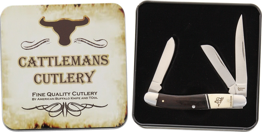 Cattleman's Cutlery CC0001BST Bronco Series Stockman Knife