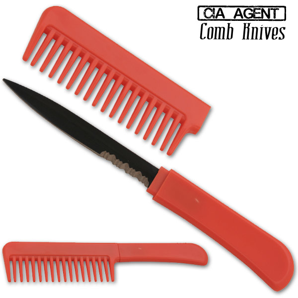 CIA Agent Comb Knife (Red) CK-RD