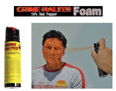 Crime Halter 4 Ounce Foam Pepper Spray