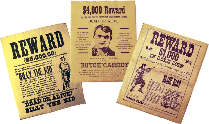 Denix DX091 Old West Wanted Poster Set