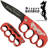 Dragon Deadly Trench Knuckle Knife Duster Extreme, Red
