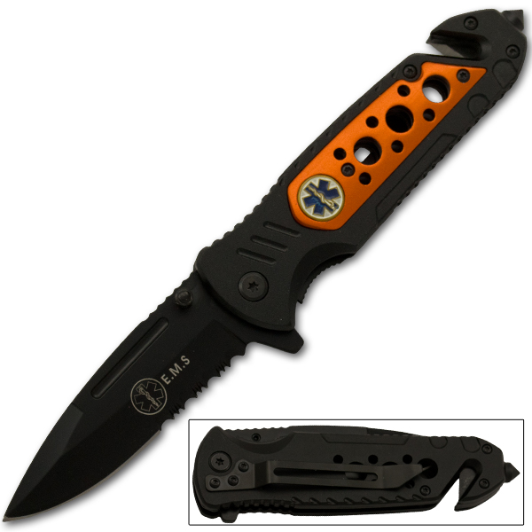 EMS Spring Assisted Tactical Knife