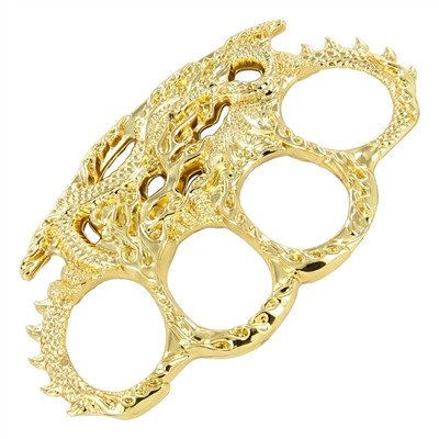 Enter the Dragon Brass Knuckles, Gold