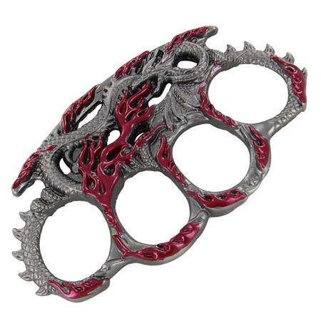 Enter the Dragon Brass Knuckles, Maroon