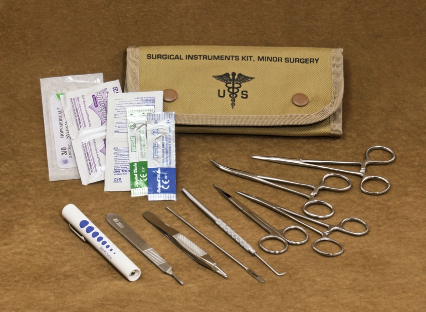 First Aid FA80122TAN Field Surgical Kit