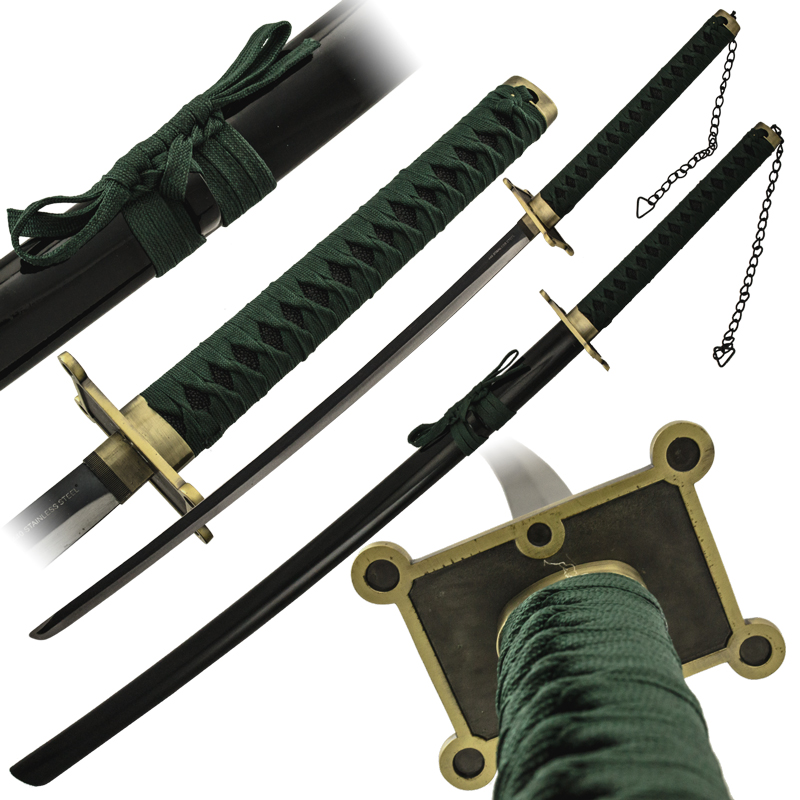 Green Katana Samurai Sword - PS-9419