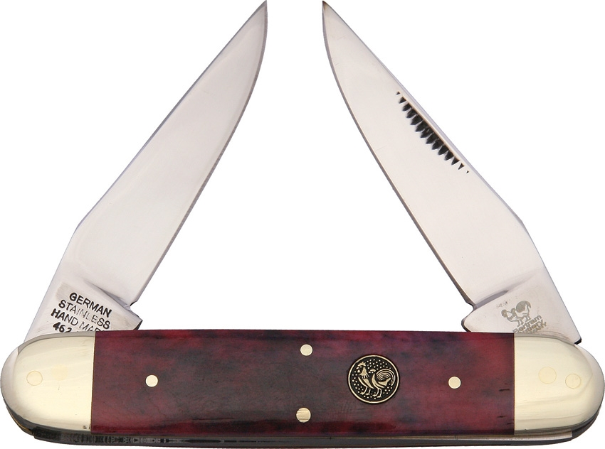 Hen and Rooster HR462BRB Muskrat Brown Smooth Bone Knife