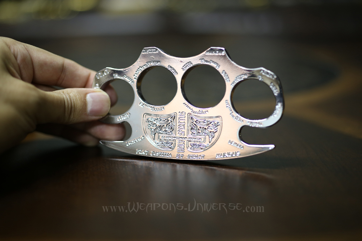 Holy Spirit Brass Knuckles, Chrome