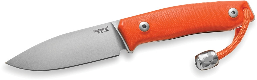 Lion Steel LSTM1GOR M1 Fixed Blade Knife, Orange G10