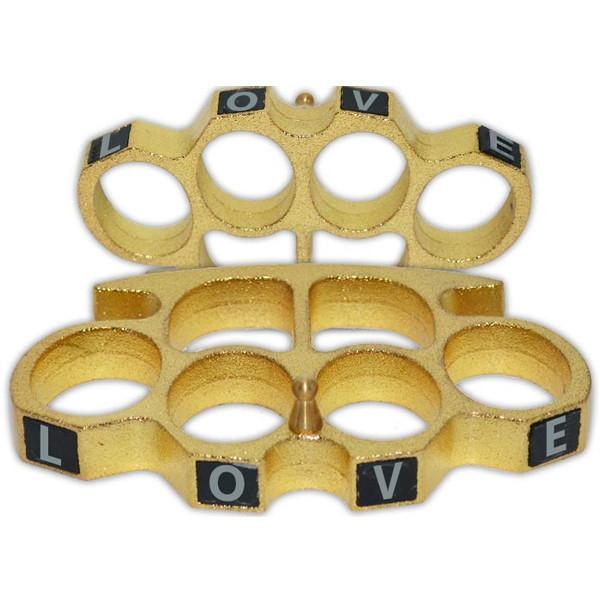 Love Knuckles, Large, Gold