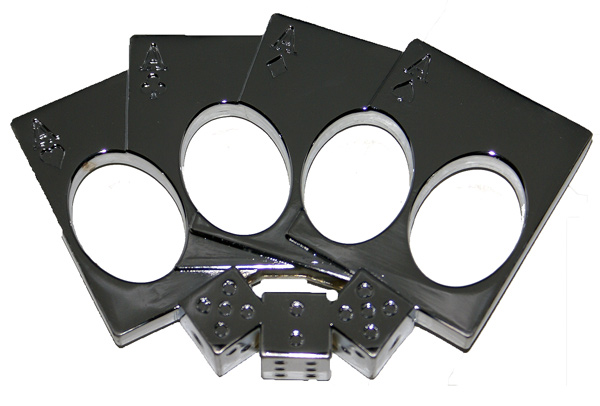 Lucky Punch Brass Knuckles, Chrome