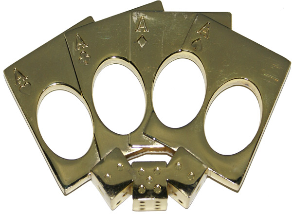 Lucky Punch Brass Knuckles, Gold
