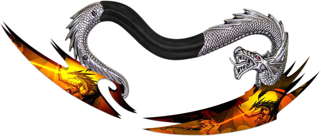 Master Cutlery FMT-032D Dragon's Twin Inferno Knife