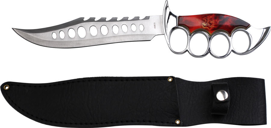 Master Cutlery HK-983SK Raging Inferno Skull Trench Knife